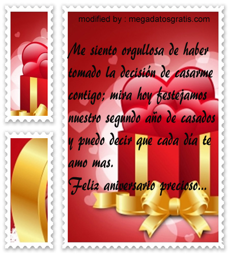 tarjetas con textos románticos para tu esposa por aniversario de bods,postales con romànticas palabras