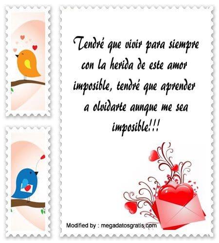 mensajes de amor imposible para facebook,mensajes de amor imposible para compartir