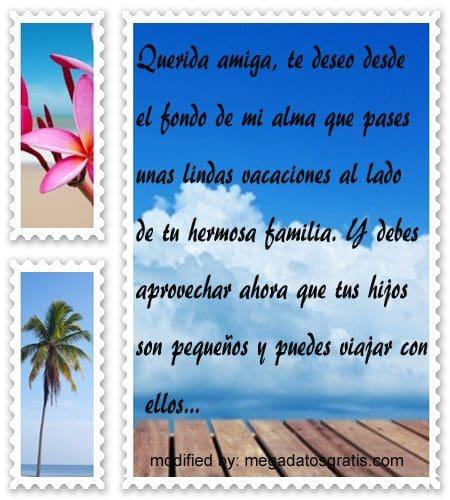 Frases de felices vacaciones, textos para desear buenas vacaciones