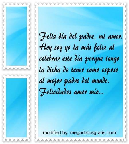 Palabras para mi esposo por el dia del Padre,tiernos saludos para mi esposo por el dia del Padre