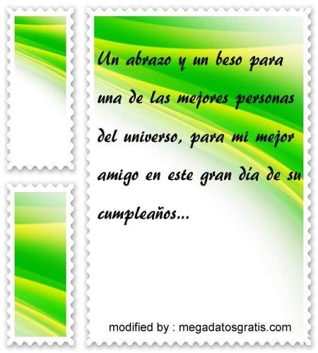 Palabras de cumpleaños amigo,textos de feliz cumpleaños amiguito
