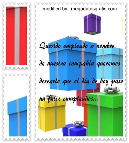 Textos de cumpleaños a trabajador,postales de cumpleaños para un trabajador