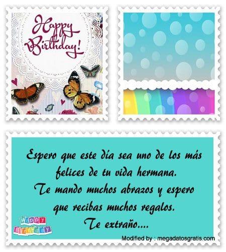Bonitas Frases De Cumpleaños Para Una Hermana Mensajes De