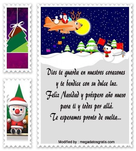 Tarjetas de navidad para los hijos que estan lejos