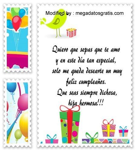 postales de feliz cumpleanos para mi hija
