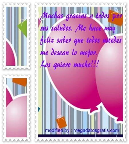 Imàgenes Con Frases Para Agradecer Los Saludos De Cumpleaños