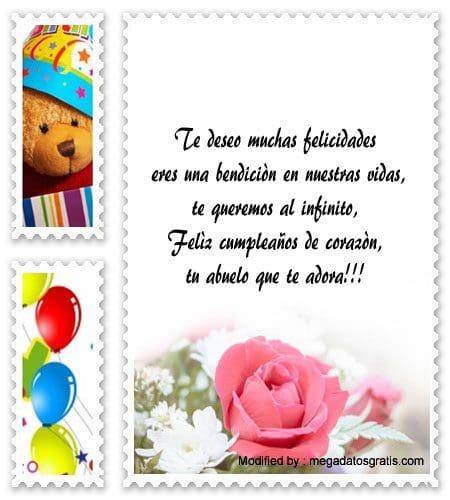 Bonitas Frases De Cumpleaños Para Mi Nieto Saludos De Cumpleaños