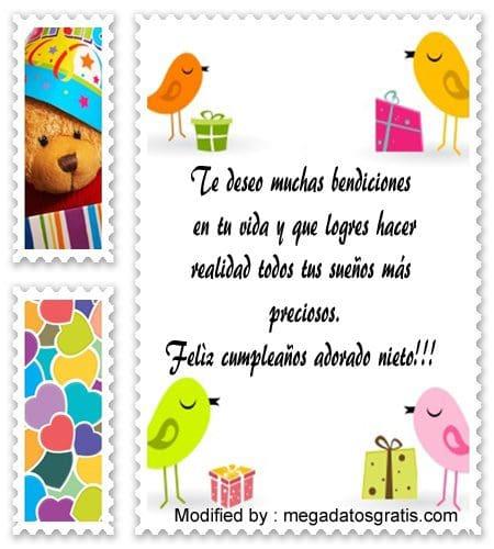 Bonitas Frases De Cumpleaños Para Mi Nieto Saludos De