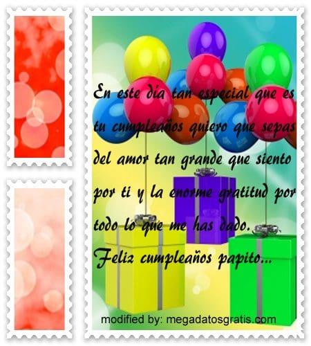 Frases de cumpleaños papá,Lindas frases de cumpleaños para tu padre