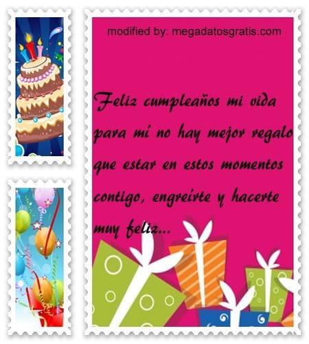 Palabras de cumpleaños para mi novia,Bellos mensajes de cumpleaños para tu pareja