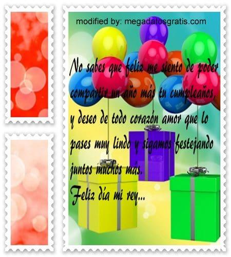 Textos para mi amor por su cumpleaños, Originales sms para saludar a tu pareja por su cumpleaños