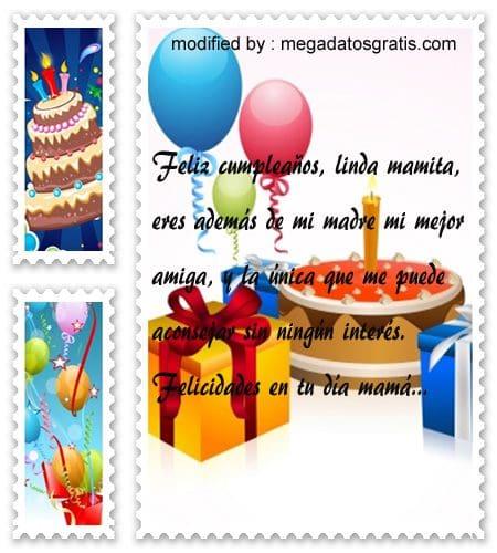 Dedicatorias de cumpleaños para mamá, Hermosos textos de cumpleaños para tu mamá