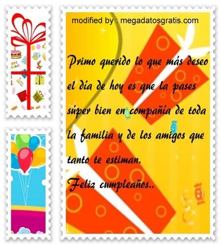 Frases de cumpleaños primo, nuevos poemas de cumpleaños para tu primo