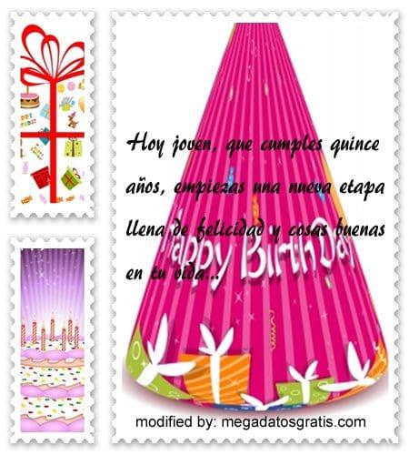 SMS para felicitar un quinceañero, Bonitas dedicatorias de feliz cumpleaños para quinceañero