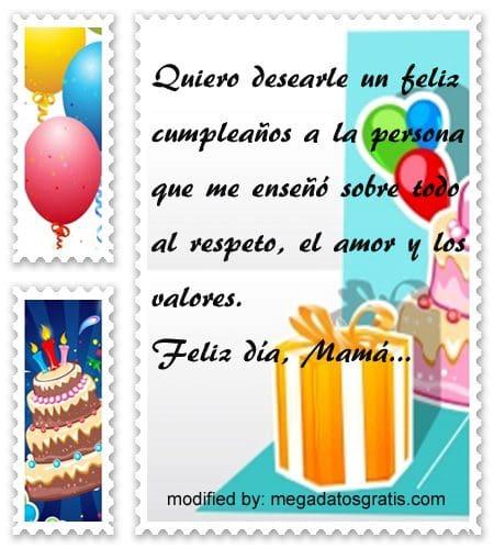 Tiernos mensajes de cumpleaños para tu madre,bonitos textos para saludar a tu madre por su cumpleaños