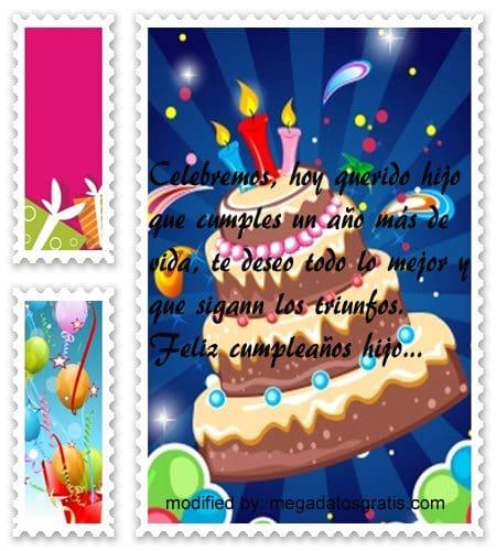 Mensajes de cumpleaños hijo,Bellos mensajes de cumpleaños para tu hijo