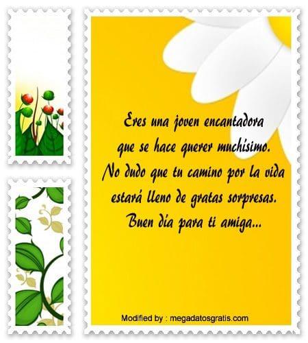 Bonitos Textos De Buenos Dias Para Mandar A Una Amiga Frases De