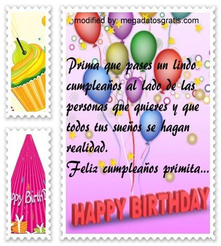 Frases a mi prima por su cumpleaños,Lindas frases de cumpleaños para tu prima
