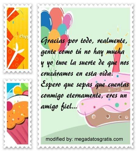 tarjetas de agradecimiento de cumpleanos