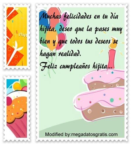 Textos de cumpleaños para mi hija,palabra de feliz cumpleaños hijita