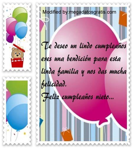Hermosos Mensajes De Cumpleaños Para Mi Nieto Con Imágenes