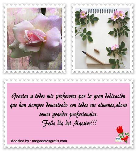 Bonitos Saludos Por El Día Del Maestro Felicitaciones A
