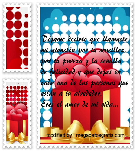 mensajes de amor, dulces palabras de amor para la mujer de mi vida